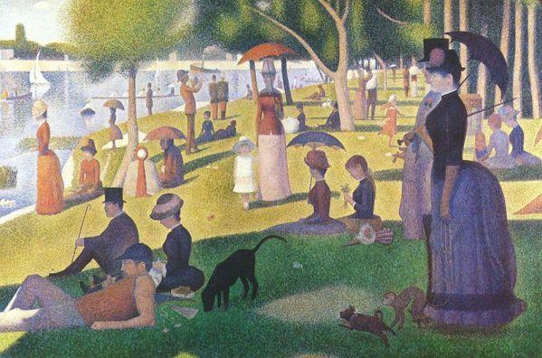 Seurat - Tarde de domingo en la isla de la Grand Jatte (1884-1886)