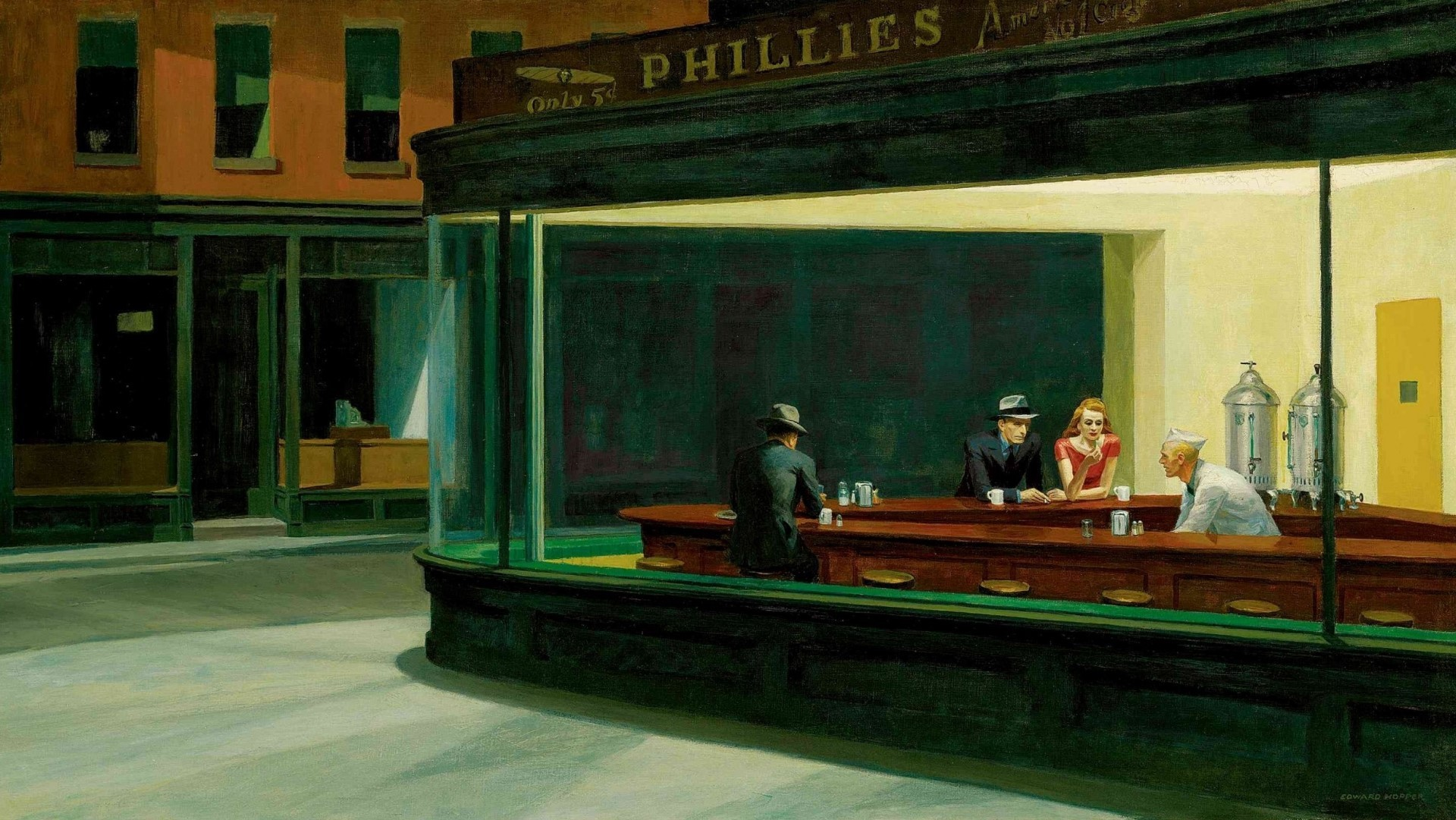 edward hopper nighthawks 1942
