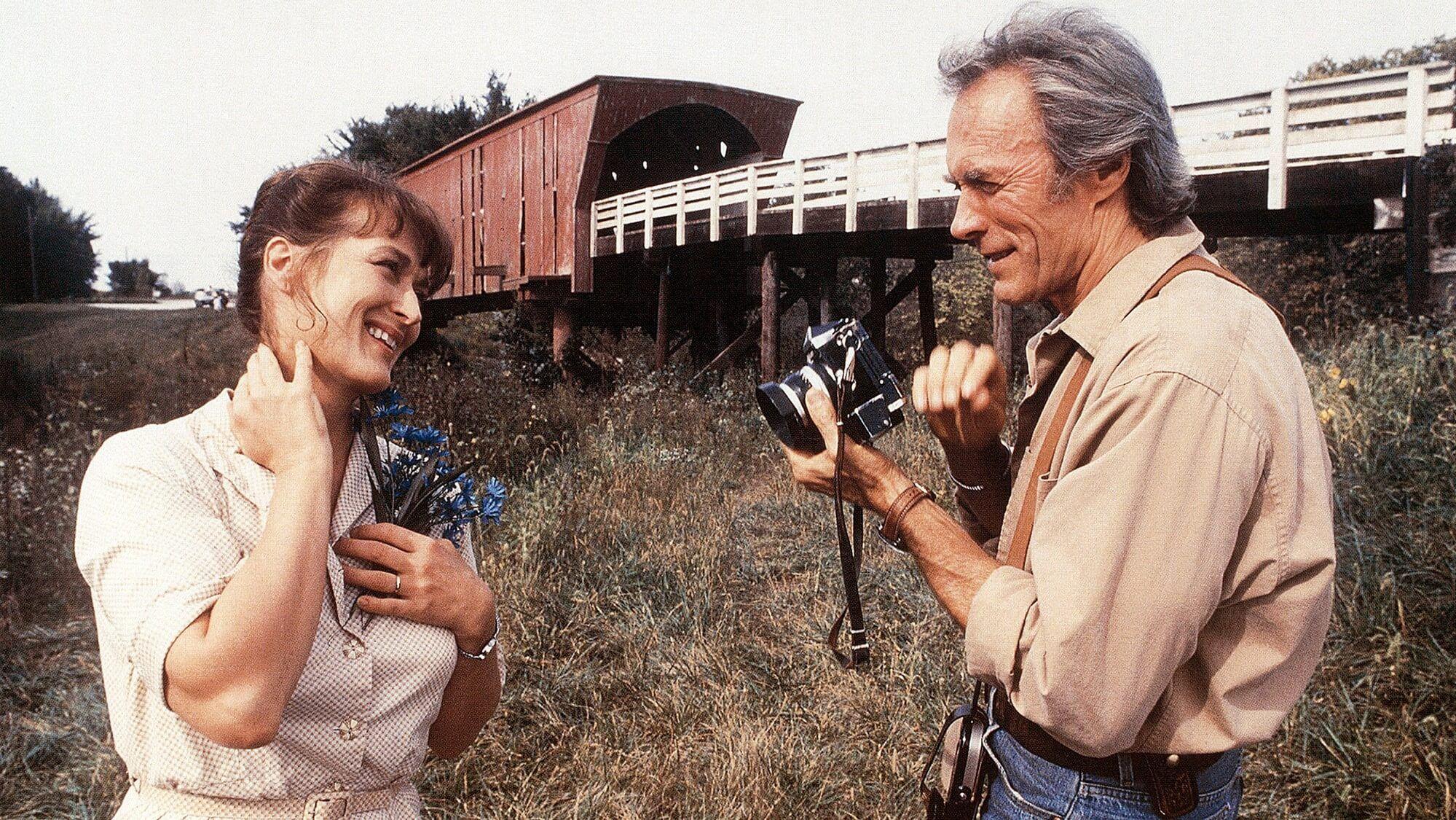 trágicas parejas de películas Robert y Francesca en Los puentes del condado de Madison