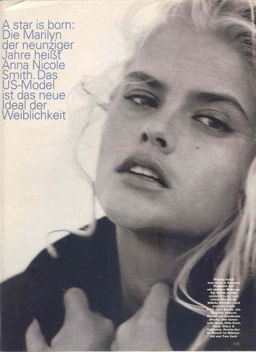 Anna-Nicole Smith fotografiada por Peter Lindbergh